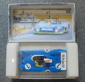 【送料無料】模型車 スポーツカー matra simca ms670b lepescarololarrousseスパーク1181974matra simca ms670b le mans winner 1974 signed by pescarololarrousse spar