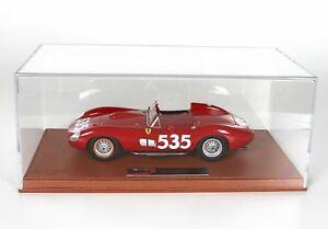 お中元 送料無料 模型車 正規取扱店 スポーツカー フェラーリ315535ミルミグリア1957taruffiショーケースbbr 118 bbrc 1807vferrari 315 taruffi showcase bbr miglia 535 winner mille 1957
