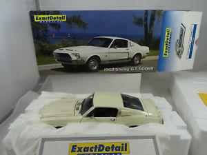 【送料無料】模型車 スポーツカー フォードムスタングホワイト§ listing118 exact detail wcc707a1968 ford mustang shelby gt 500kr white rarity §