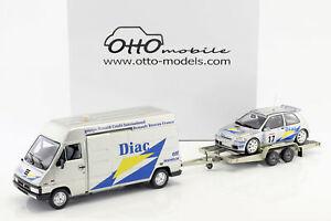 【送料無料】模型車 スポーツカー ラリーレーシングデツアーセットルノーマスタールノークリオマキシ3car set rally racing de tour 1995 renault master renault clio maxi traile
