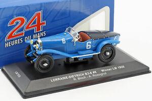 【送料無料】模型車 スポーツカー #ルマンブロッホネットワークlorrainedietrich b36 6 winner 24h lemans 1926 bloch, rossignol 143 ixo