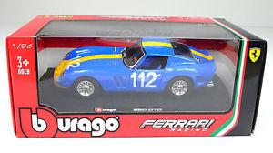【送料無料】模型車 スポーツカー フェラーリパーferrari 250 gto bleu chelle 124 par bburago
