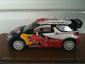 【送料無料】模型車 スポーツカー ds3 wrcスパーク143 ogierイングラシアrallye du portugal 2011ds3 wrc spark 143 ogieringrassia rallye du portugal 2011