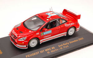 【送料無料】模型車 スポーツカー プジョー#スウェーデンマーティンモデルネットワークモデルpeugeot 307 wrc 8 2nd sweden 2005 martinpark 143 model ixo model