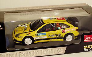 【送料無料】模型車 スポーツカー シトロエンクサララリースウェーデンジジガリ118 citroen xsara wrc rally sweden 2007 gigi galli