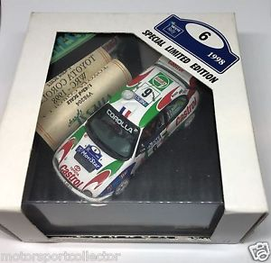 【送料無料】模型車 スポーツカー トヨタカローララリーフィンランドtoyota corolla wrc rally finland 1998 auriol giraudet, 143, ovp, vitesse v98204