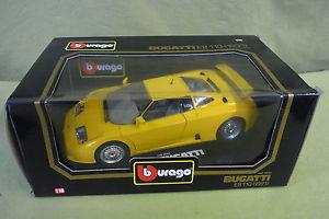 【送料無料】模型車 スポーツカー タラbburagobugatti eb 110 1991cod 3045yellowboxed 118