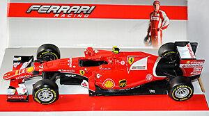 【送料無料】模型車 スポーツカー フェラーリ#キミライコネンferrari sf15t f1 7 kimi raikkonen 2015 red red 124 bburago