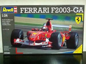 【送料無料】模型車 スポーツカー モデルキットフェラーリシューマッハrevell model kit 124 7240 f1 ferrari f2003ga schumacher mib, 2004