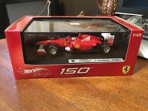 【送料無料】模型車 スポーツカー ホットホイールレーシングフェラーリイタリアアロンソhot wheels f1 racing w1075 ferrari f150 italia falonso boxed