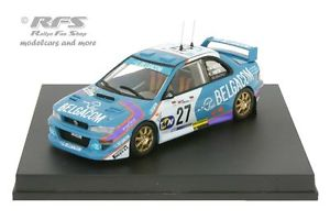 【送料無料】模型車 スポーツカー スバルimpreza wrc belgacomポルトガル1998de mevius 143 trofeu 1109subaru impreza wrc belgacom rally portugal 1998de mevius 143 tr