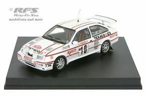 【送料無料】模型車 スポーツカー フォードシエラコスワースモンテカルロラリーford sierra rs cosworthmonte carlo rally 1987grundel 143 trofeu 0120