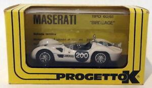 【送料無料】模型車 スポーツカー progetto k 143ダイカスト025 マセラッティ200 targaフロリオ1961progetto k 143 scale diecast 025 maserati birdcage 200 targa florio 1961