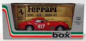 【送料無料】模型車 スポーツカー ボックスモデルスケールフェラーリグアテマラ#ミッレミリアbox model 143 scale 8415 ferrari 250 gt 417 mille miglia 1957