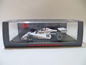 【送料無料】模型車 スポーツカー スパークイギリスアランジョーンズspark s4006 surtees ts19 f1 car british gp 1976 alan jones 143 mib