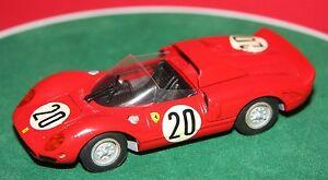【送料無料】模型車 スポーツカー hand built 143 tenariv27ferrari 330p2 le mans 196520 white metalmodelhand built 143 tenariv no 27 ferrari 330 p2 le mans 1