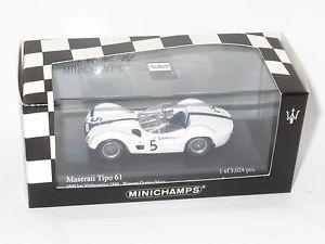 【送料無料】模型車 スポーツカー マセラティマセラティニュルブルクリンクガーニーコケキロ143 maserati tipo 61  winners nurburgring 1000km 1960 dgurney smoss