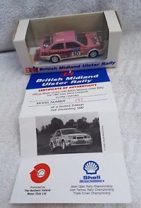 【送料無料】模型車 スポーツカー モーターフォードシエラコスワースアルスターラリーエヴァンスmotor pro 143 ford sierra cosworth 1989 ulster rally evansdavies ltd ed of 500