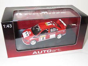 【送料無料】模型車 スポーツカー ランサーラリーモンテカルロマクレー143 mitsubishi lancer evovii wrc rally monte carlo 2002 amcrae