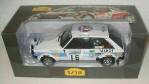 【送料無料】模型車 スポーツカー サンビームロータスラリースケールモデルtalbot sunbeam lotus 1980 h toivonen rally 118 scale altaya model