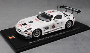 【送料無料】模型車 スポーツカー スパークメルセデスベンツグアテマラスパブランドルspark mercedesbenz sls amg gt3 spa 24h 2013 webb wendlinger brundle sb048 143