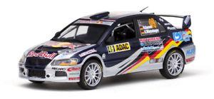 【送料無料】模型車 スポーツカー ランサーエボレッドブルラリードイツ143 mitsubishi lancer evo ix red bull adac rally germany 2010 hgassner jr