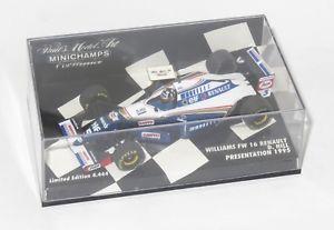【送料無料】模型車 スポーツカー ウィリアムズルノープレゼンテーションカーデイモンヒル143 williams renault fw16 presentation car 1995  damon hill
