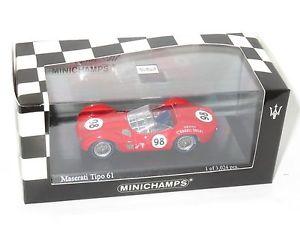 【送料無料】模型車 スポーツカー マセラティマセラティラミラーリバーサイドキャロルシェルビー143 maserati tipo 61 la timesmirror gp riverside 1960 carroll shelby