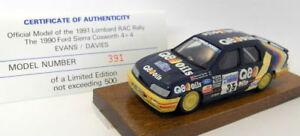 【送料無料】模型車 スポーツカー スケールラリーシエラコスワースmotorpro 143 scale resin pro9 1991 rac rally sierra cosworth 4x4 391 of 500