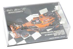 【送料無料】模型車 スポーツカー オレンジモンテカルロ143 orange arrows asiatech a22 monte carlo gp 2001 high nose jverstappen
