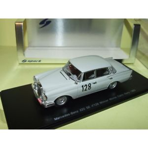 【送料無料】模型車 スポーツカー メルセデスモンテカルロラリースパークmercedes 220 se rallye monte carlo 1960 spark s1004 143 1er