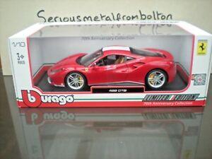 【送料無料】模型車 スポーツカー フェラーリレッドシューマッハ listingbburago ferrari 488gtb 2016 red the schumacher 118