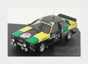 【送料無料】模型車 スポーツカー アウディクワトロ#ラリーモンテカルロミケーレムートンaudi quattro 15 rally montecarlo 1981 michele mouton arrii trofeu 143 tr1614 m