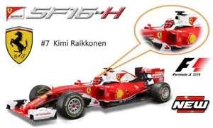 【送料無料】模型車 スポーツカー フェラーリモデルカーベッテルライコネンbburago 16802r 16802k ferrari f1 sf16h model cars vettel raikkonen 2016 118th