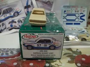 【送料無料】模型車 スポーツカー アリーナキットダットサンサニーモンテカルロarena kit sc143 datsun sunny 120y montecarlo 1976