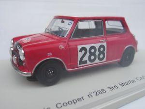 【送料無料】模型車 スポーツカー スパークスケールモーリスミニクーパーモンテカルロラリーspark, 143 scale, morris mini cooper 288 monte carlo rally 1963, aaltonen s1187