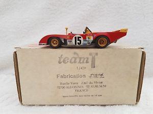 【送料無料】模型車 スポーツカー ダムチームフェラーリルマンキットホワイトメタルdam team t ferrari pb le mans 1973 ready built kit white metal amp; resin