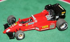 【送料無料】模型車 スポーツカー フェラーリホワイトメタルモデルカーfds 143 hand built ferrari 126 c4 f1 gp 1984 rene arnoux white metal model car