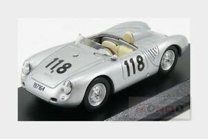 【送料無料】模型車 スポーツカー ポルシェ550rsクモ118 2nd targaフロリオ1959best 143 be9701モデルporsche 550rs spider 118 2nd targa florio 1959 silver best 143 be9701 mo