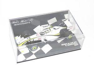 【送料無料】模型車 スポーツカー ブラウンシーズンバリチェロ143 brawn gp bgp001  2009 season  rbarrichello