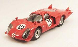 【送料無料】模型車 スポーツカー アルファロメオルマンデイトナベストモデルalfa romeo 332 le mans daytona 1969 diboschappuis best 143 be9492 model