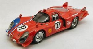 【送料無料】模型車 スポーツカー アルファロメオ332クーペルマン196837143 be9374モデルカーダイカストalfa romeo 332 coupe le mans 1968 37 best 143 be9374 model car diecast