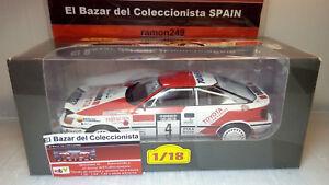 【送料無料】模型車 スポーツカー listing118 1990 toyota celica gt4st165カルロスsainzixo altaya 3l 050 listing118 1990 toyota celica gt4 st165 carlos sainzixo