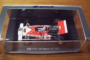 【送料無料】模型車 スポーツカー 143spark s1155 brm p153 vern schuppan26 belgiumgp 1972143 spark s1155 brm p153 vern schuppan 26 belgium gp 1972