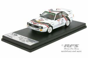 【送料無料】模型車 スポーツカー アウディスポーツクワトロメッツラリーaudi sport quattro metz rally 1984 walter rhrl 143 trofeu x 005