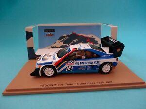 【送料無料】模型車 スポーツカー プジョーターボ#カンクネンラリーパイクスピークスパークpeugeot 405 turbo 16 t16 3 kankkunen rally pikes peak 1988 143 spark pp006