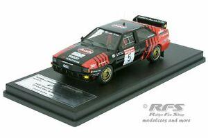 【送料無料】模型車 スポーツカー アウディクワトロラリーサーキットデアルデンヌジョンボッシュaudi quattro rally circuit des ardennes 1986 john bosch 143 trofeu scala 43