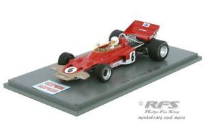 【送料無料】模型車 スポーツカー ロータスイギリススパークlotus 72b fordjohn milesformula 1 british gp 1970 143 spark 5344