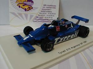 【送料無料】模型車 スポーツカー スパークティレルアルゼンチングランプリフォーミュラspark s4318 tyrrell 010 4 argentina gp formula 1 1981 r zunino 143