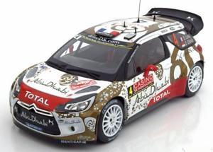 【送料無料】模型車 スポーツカー 118 norev citroen ds3 wrc4モンテカルロローブエレナ2015118 norev citroen ds3 wrc 4, rally monte carlo loebelena 2015